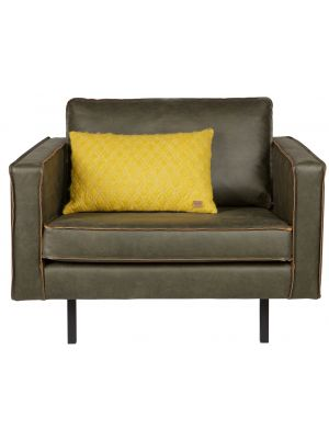 BePureHome Rodeo Fauteuil 1.5-zits - B105 cm - Leer - Army Green