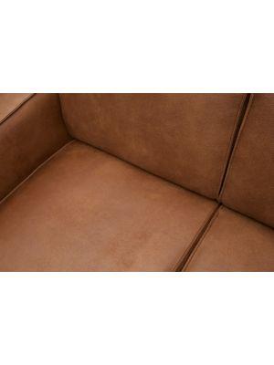 BePureHome Statement Bank 4-Zits - Breedte 280 cm - Eco Leer Cognac