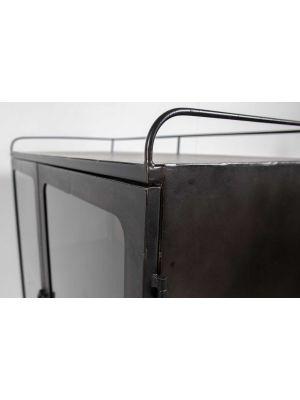 BePureHome Talent XL Metalen Kast op Wielen - 81x41x123 - Antique Grey