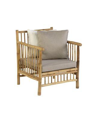 Exotan Bamboo Loungestoel - Incl. Kussens
