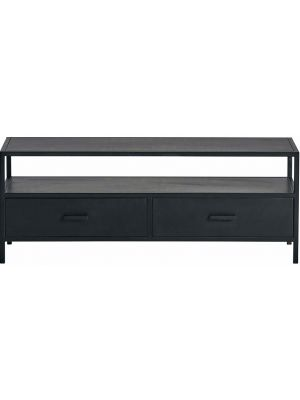 24Designs Dusk TV-meubel - B120 x D40 x H45 - Metaal - Zwart