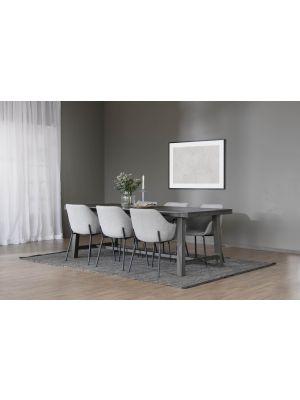 Rowico Brooklyn Verlengbare Eettafel - Massief Bruin Eiken - L220 x B95 x H75 cm