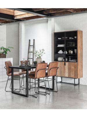 24Designs Beam Timeless Countertafel - B80 x L150 x H90 cm - Teakhout Zwart