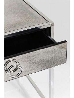 Kare Design - Bureau Moonscape 2-Laden - Zilverkleurig - Spiegelglas en RVS
