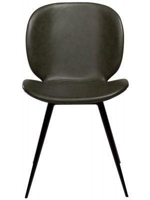 Dan-Form Cloud Stoel - Set van 2 - Groen Kunstleer - Zwart Metalen Poten