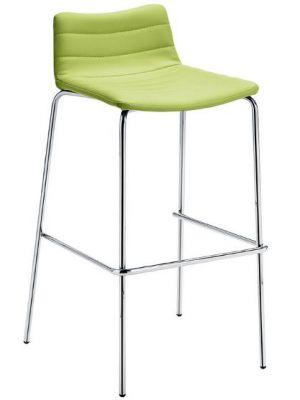 MIDJ Cover MT S Barkruk - Set van 2 - Zithoogte 75 cm - Kunstleer Lime Groen - Chromen Onderstel