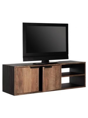 24Designs Cosmo NO.1 Small Hangend TV-Meubel H40 x B125 x D40 cm - Teakhout