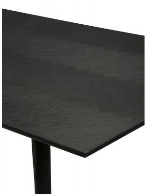 Dan-Form Bone Tafel L220 x B100 x H75 cm - Zwart Gebeitst Essenhout