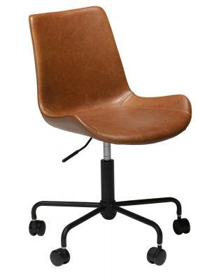 Dan-Form Hype Bureaustoel - Lichtbruin Vintage Kunstleer