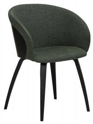Dan-Form Imo Stoel - Set van 2 - Stof Groen - Zwarte Houten Poten