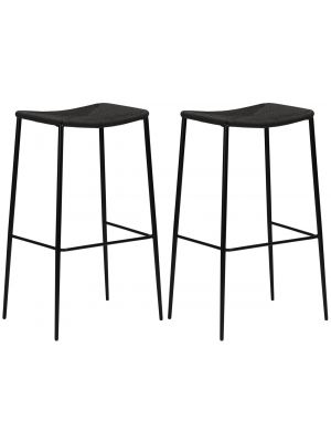 Dan-Form Stiletto Barkruk – Set van 2 - Zithoogte 75 cm – Zwart