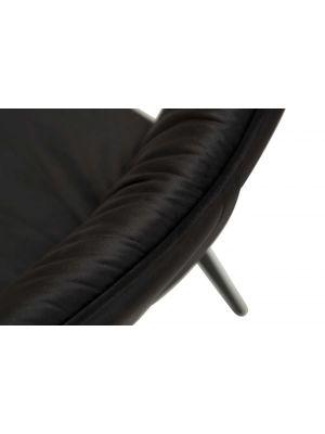 Dan-Form Join Stoel - Set van 2 - Fluweel Zwart - Zwart Metalen Poten