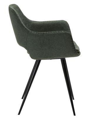 Dan-Form OHH Stoel Armleuningen - Stof Groen - Zwart Metalen Poten