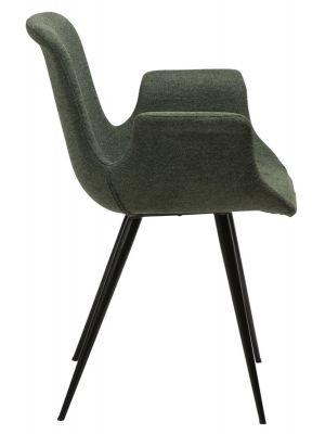 Dan-Form Thicc Stoel - Stof Groen - Zwart Metalen Poten