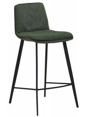 Dan-Form Fierce Counter Barkruk - Zithoogte 65 cm - Set van 2 - Stof Groen
