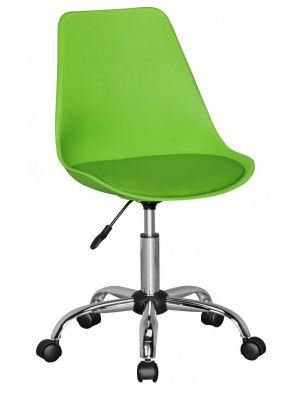 24Designs Bureaustoel Dex Office - In hoogte Verstelbare Groene Kuipstoel op wielen