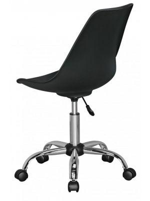 24Designs Bureaustoel Dex Office - In hoogte Verstelbare Zwarte Kuipstoel op wielen