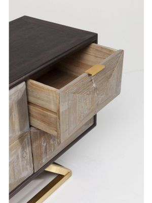 Kare Design - Triangolo Dressoir - 2-Deurs/4-Laden - B165 x D40 x H60 cm - Hout
