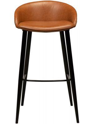 Dan-Form Dual Barkruk – Zithoogte 76 cm - Set van 2 - Cognac Kunstleer