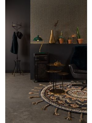 Dutchbone Devi Tafellamp - B28xD36xH52 cm - Zwart met Messing