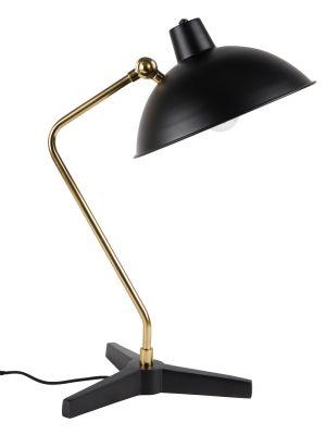 Dutchbone Devi Wandlamp - B29xD70xH49 cm - Zwart met Messing