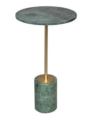 Dutchbone Gunnar Bijzettafel - Ø37,5xH65 cm - Groen Marmeren Tafelblad