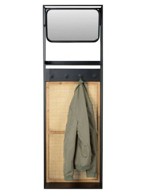 Dutchbone Langres M Spiegel - B53xD15xH165 cm - Zwart Metaal