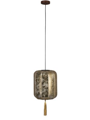 Dutchbone Suoni Hanglamp S - Ø30xH170 cm - Gouden Lampenkap