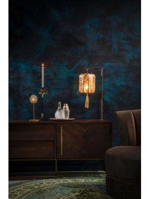 Dutchbone Suoni Tafellamp - B20xD20xH60 cm - Gouden Lampenkap