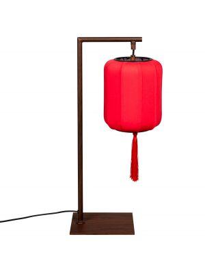 Dutchbone Suoni Tafellamp - B20xD20xH60 cm - Rode Lampenkap