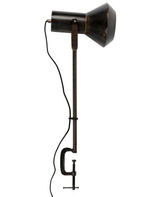 Dutchbone Vox Tafellamp - B20xD28xH88 cm - Zwart Metaal