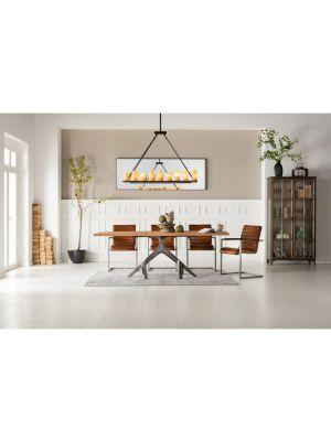 Kare Design - Stoel Riffle - Bruin Buffalo Leer - Metalen Sledeframe