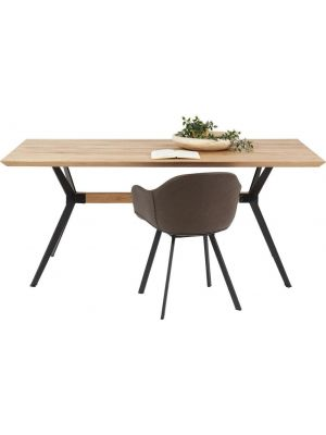 Kare Design - Downtown Eettafel - L180 x B90 x H76 cm - Eiken Tafelblad