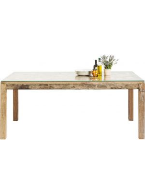 Kare Design Memory Eettafel - 160x80x76 - Gerecycled Hout