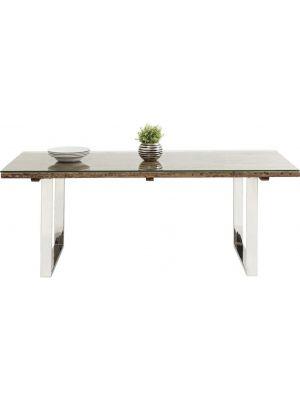Kare Design Rustico Eettafel- 200x90x76 - Tafelblad Glas + Hout