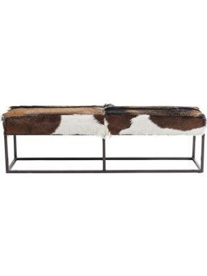 Kare Design Country Life Eettafel Bank - B140 x D35 x H45 cm - Geitenhuid