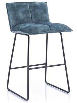 Eleonora Ruby Barkruk - Set van 2 - Zithoogte 64 cm - Blauw Adore