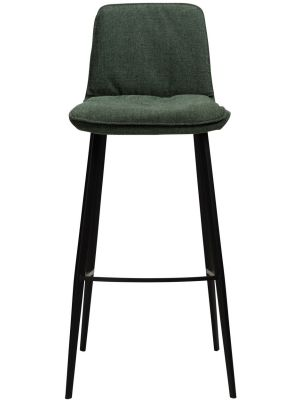 Dan-Form Fierce Barkruk - Zithoogte 75 cm - Set van 2 - Stof Groen