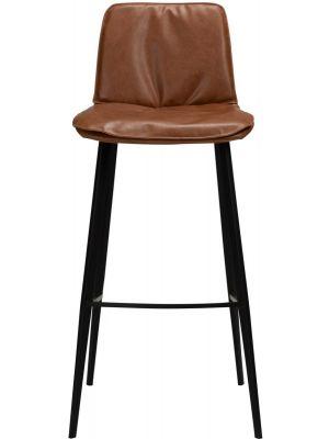 Dan-Form Fierce Barkruk - Zithoogte 75 cm - Set van 2 - Cognac Kunstleer
