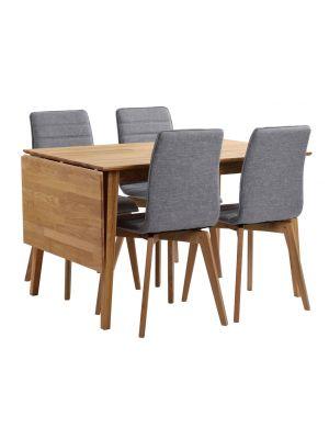 Rowico Filippa Uitklapbare Eettafel - Massief Eiken - L120 x B80 x H74 cm