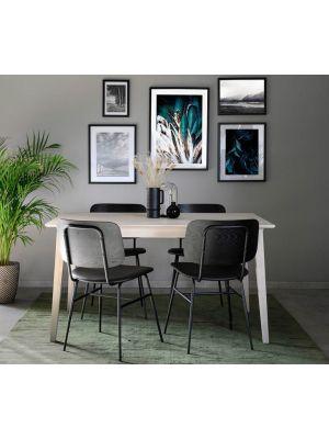 Rowico Filippa Verlengbare Eettafel - L140/240 x B90 x H74 cm - Whitewash Eiken