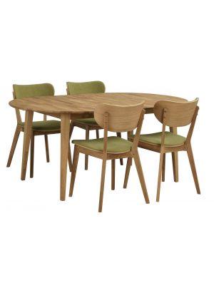 Rowico Filippa Ovale Eettafel - Uitschuifbaar Massief Eiken - L170 x B105 x H74 cm