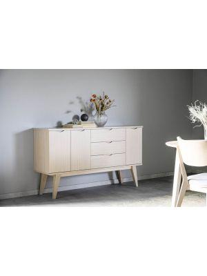 Rowico Filippa Dressoir - B150 x D40 x H85 cm - Whitewash Eikenfineer