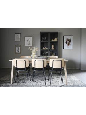Rowico Filippa Verlengbare Eettafel - L180/280 x B90 x H74 cm - Whitewash Eiken