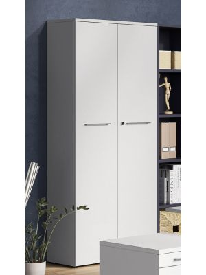 24Designs Style 2-Deurs Opbergkast - B80 x D40 x H197 cm - Lichtgrijs