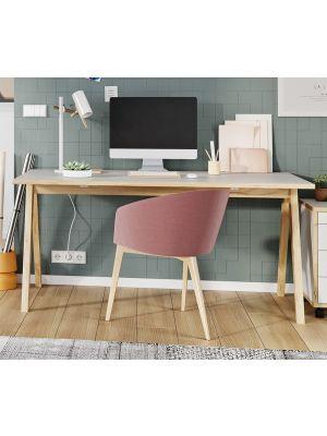 24Designs Nico Bureau - L160 x B80 x H75 cm - Wit