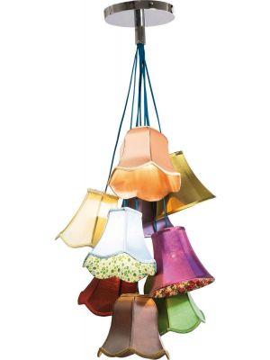 Kare Design Saloon Flowers 9 Hanglamp - B60 x H116 cm - Multi