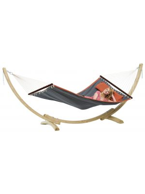 Amazonas Hangmat Set American Dream Grijs + Apollo Frame XL