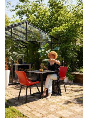 Hartman Sophie Bistro & Klaptafel - Vierkant HPL Tafelblad - L68 x B68 x H75 cm - Zwart