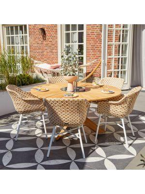 Hartman Delphine Honey Wicker - Dining Tuinstoel - Set van 2 + Gratis zitkussens t.w.v. € 29,90